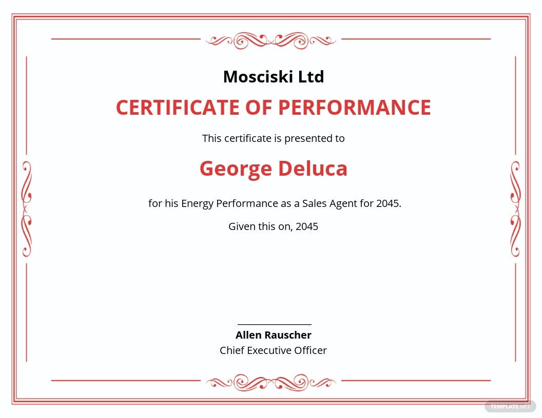 Energy Performance Certificate Template
