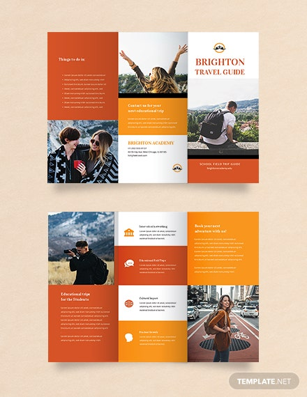 Free Travel Brochure Template For Students Download 326 Brochures