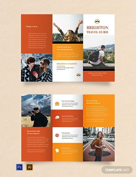 Free Travel Brochure Template for Students