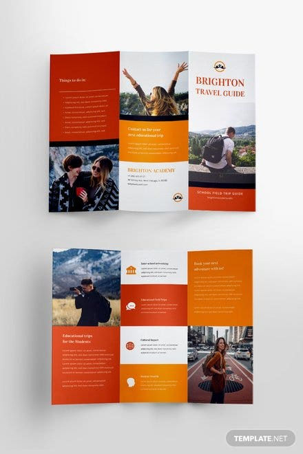 Free brochure templates download ready made for Travel brochure template for students