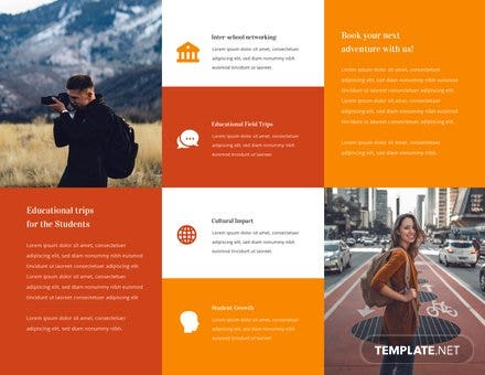 Travel Brochure Template For Students Free Templates