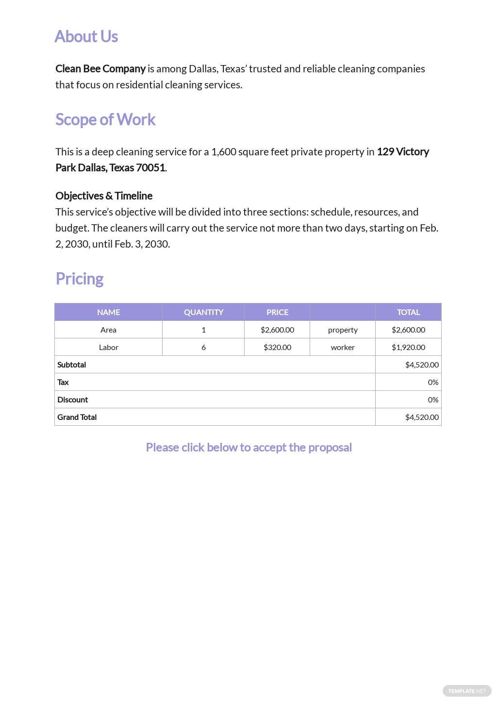 Sample Cleaning Contract Proposal Template 1.jpe