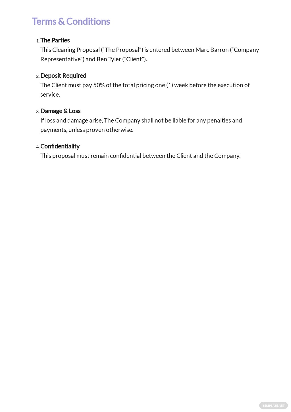 Sample Cleaning Contract Proposal Template 2.jpe
