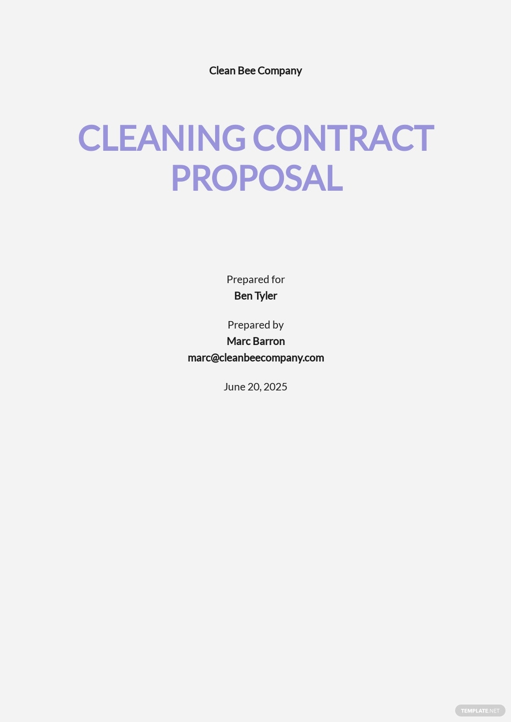 Sample Cleaning Contract Proposal Template.jpe