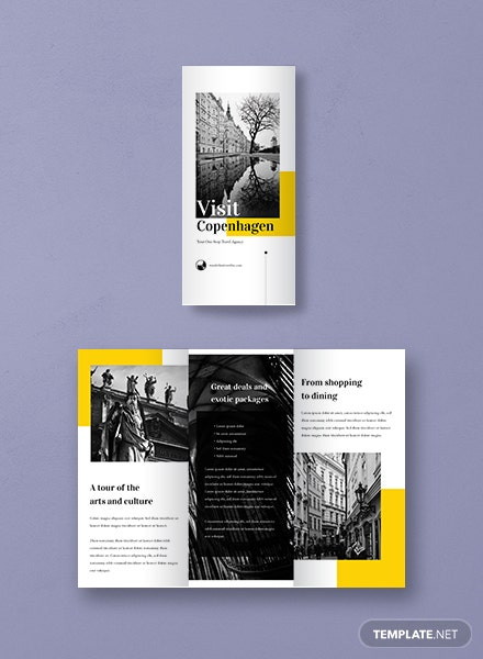 Free brochure templates download ready made for Travel guide brochure template
