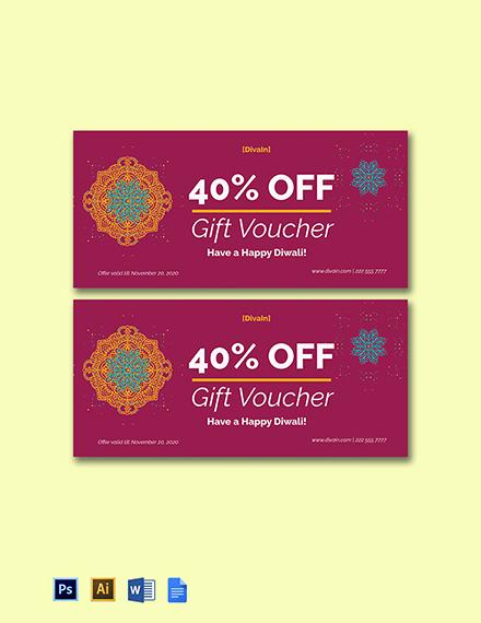 Diwali Gift Voucher Template