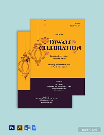 Diwali Invitation Template