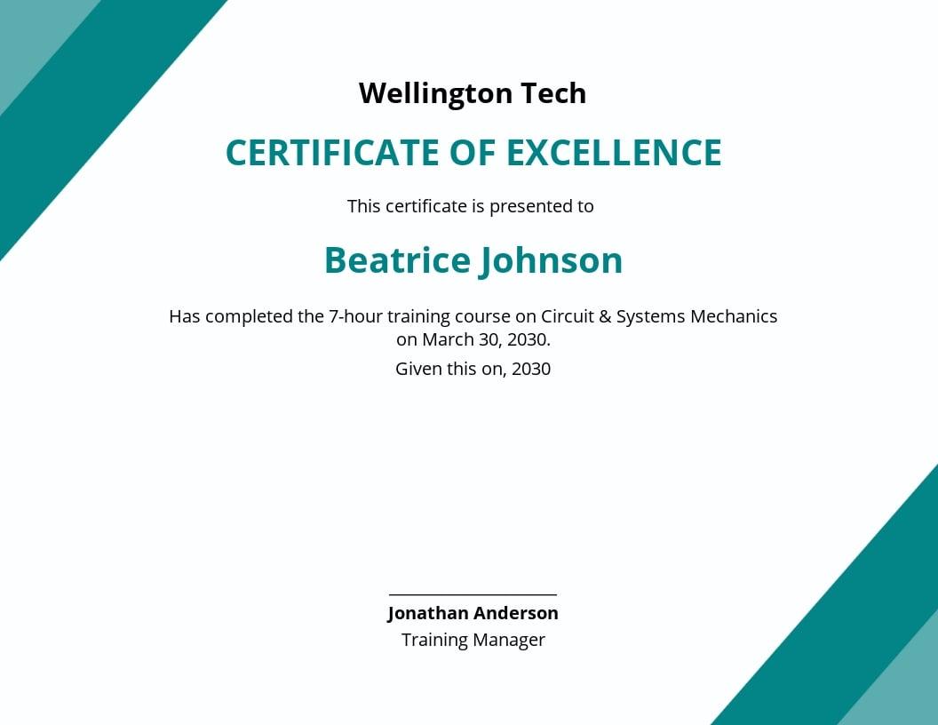 Company Stock Certificate Template Template