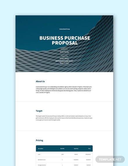 Free Concept Proposal Template