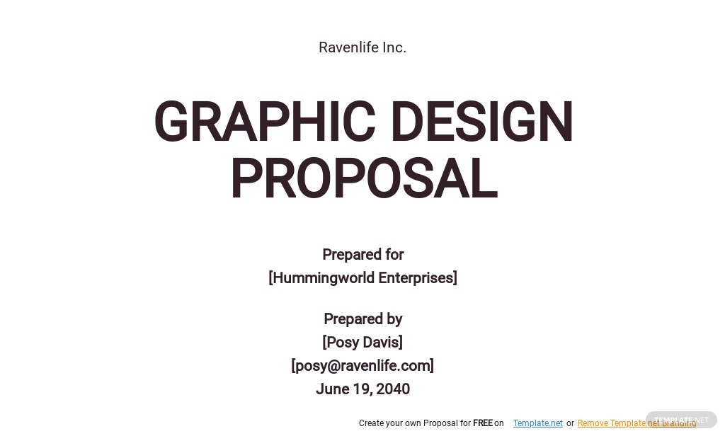 Simple Graphic Design Proposal Template