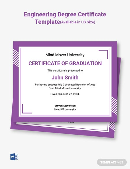 Bachelor of Arts Certificate Template