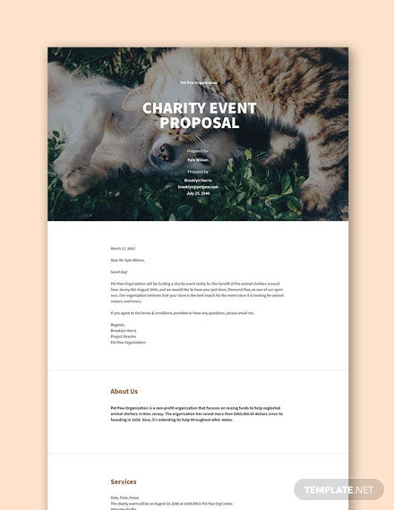 Free Charity Event Proposal Template