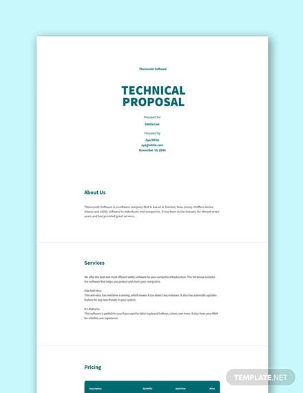 Free Technical Proposal Template