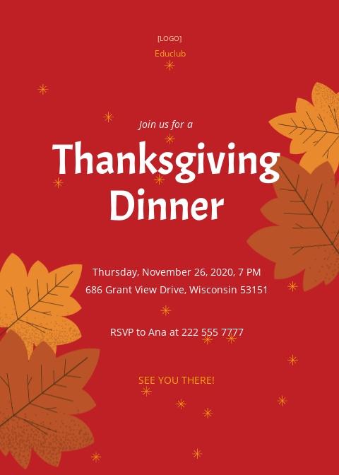 Thanksgiving Dinner Invitation Template.jpe