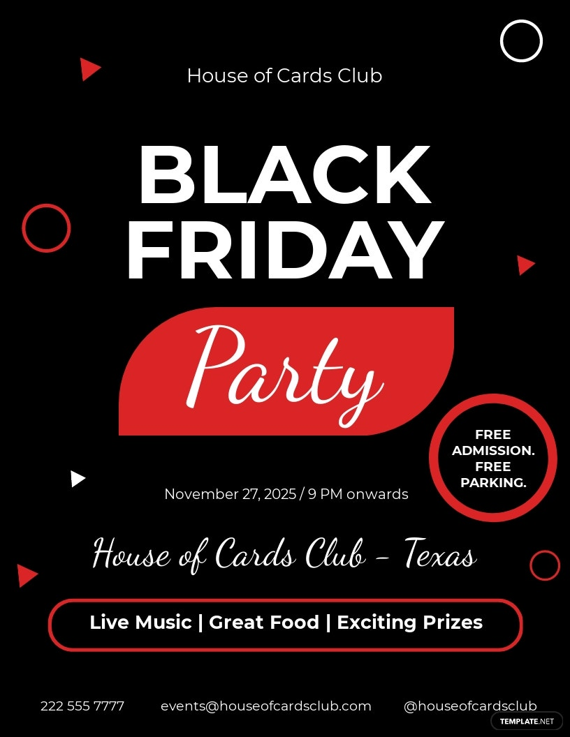 Black Friday Club Flyer Template