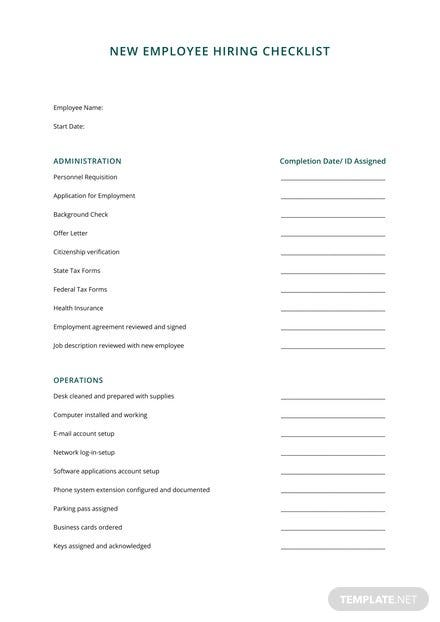 HR Checklist for Office Administration