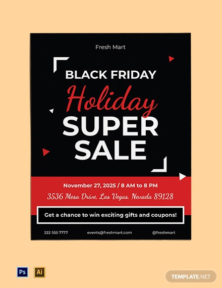 Black Friday Holiday Flyer Template