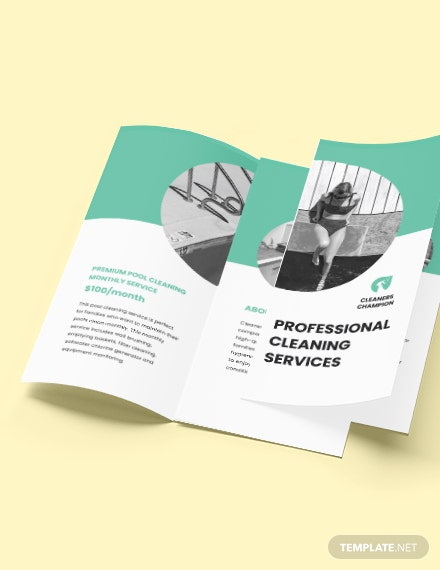 Swimming Pool Cleaning Service Brochure Editable