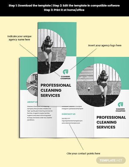 Swimming Pool Cleaning Service Brochure Printable