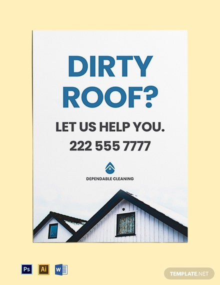 Roof Cleaning Yard Sign Template