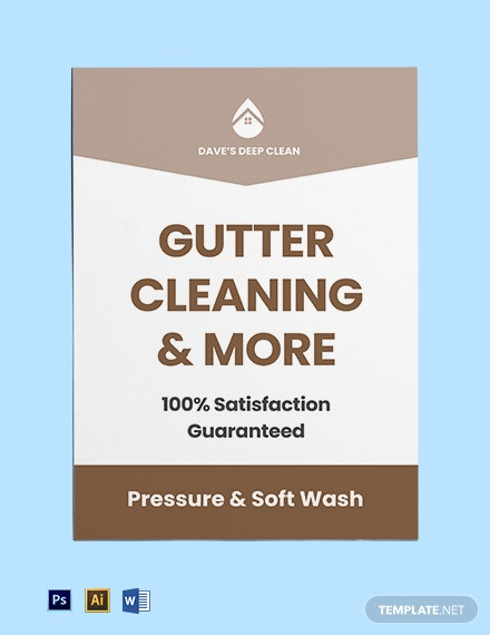Gutter Cleaning Yard Sign Template