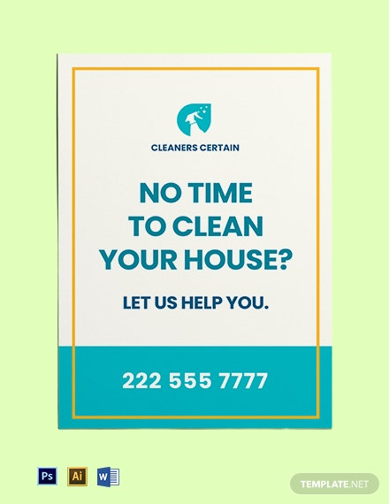 Free House Cleaning Service Yard Sign Template