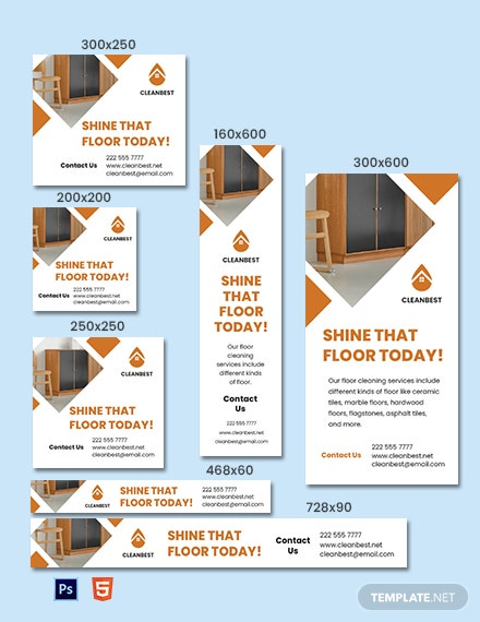 Floor Cleaning Service Banner Template