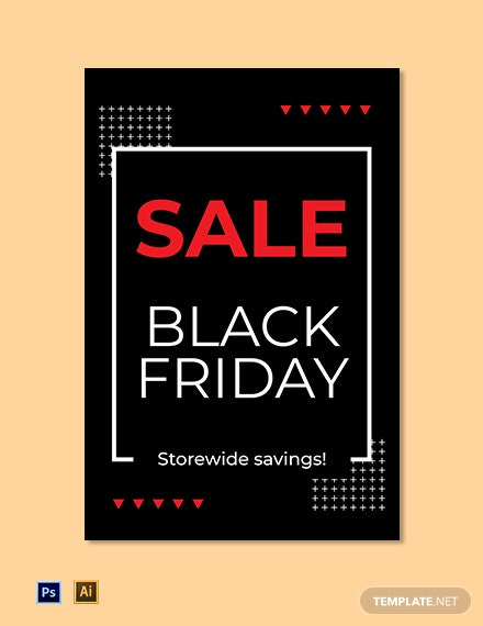 Black Friday Sign Template