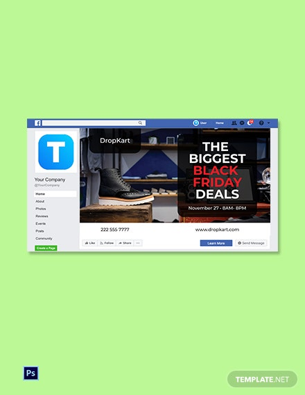 Black Friday Facebook Event Cover Template