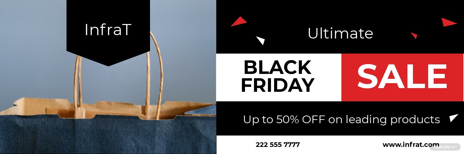 Black Friday Twitter Header Template
