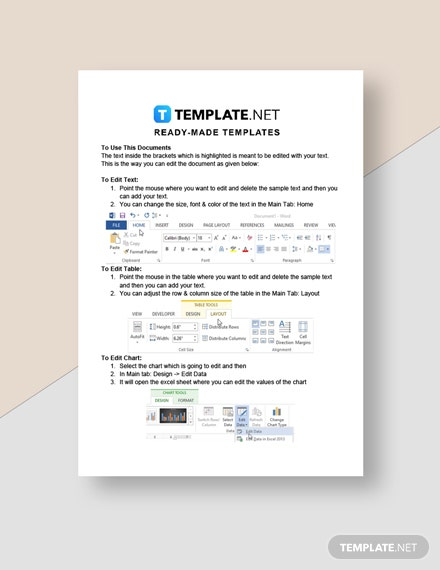 Cleaning Service Invoice Form Template