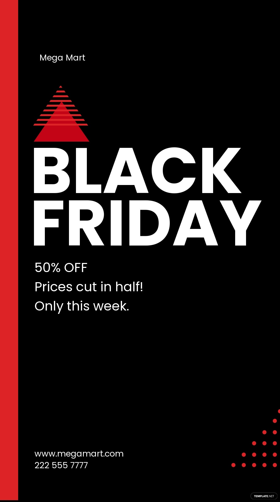 Black Friday Whatsapp Story Template