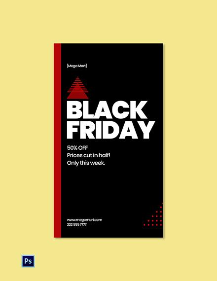 Black Friday Whatsapp Story Template