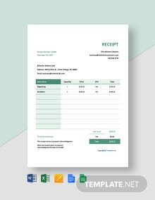 Free Blank Cleaning Service Receipt Template
