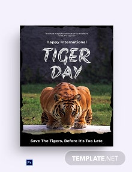 Free International Tiger Day Greeting Card
