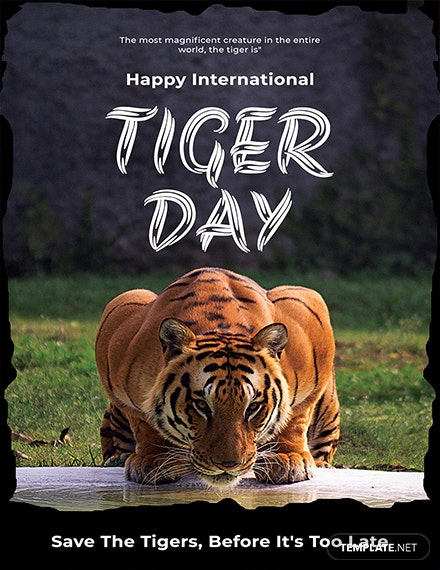 Free International Tiger Day Greeting Card