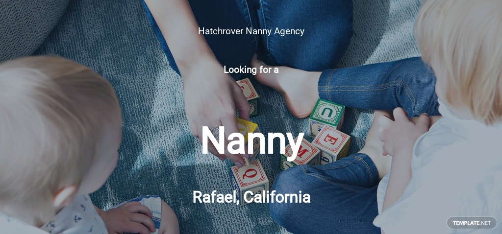 Nanny Job Description for Toddler Template