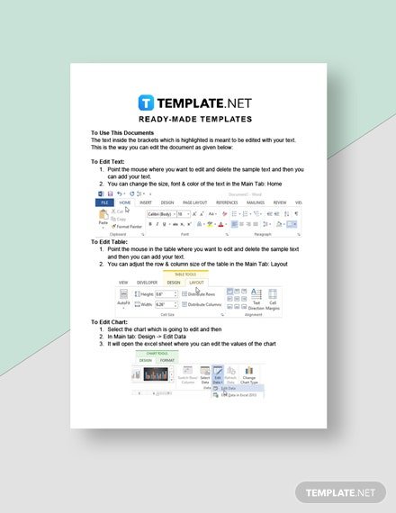 Cleaning Company Price List Template