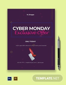 Cyber Monday Exclusive Offer flyer Template
