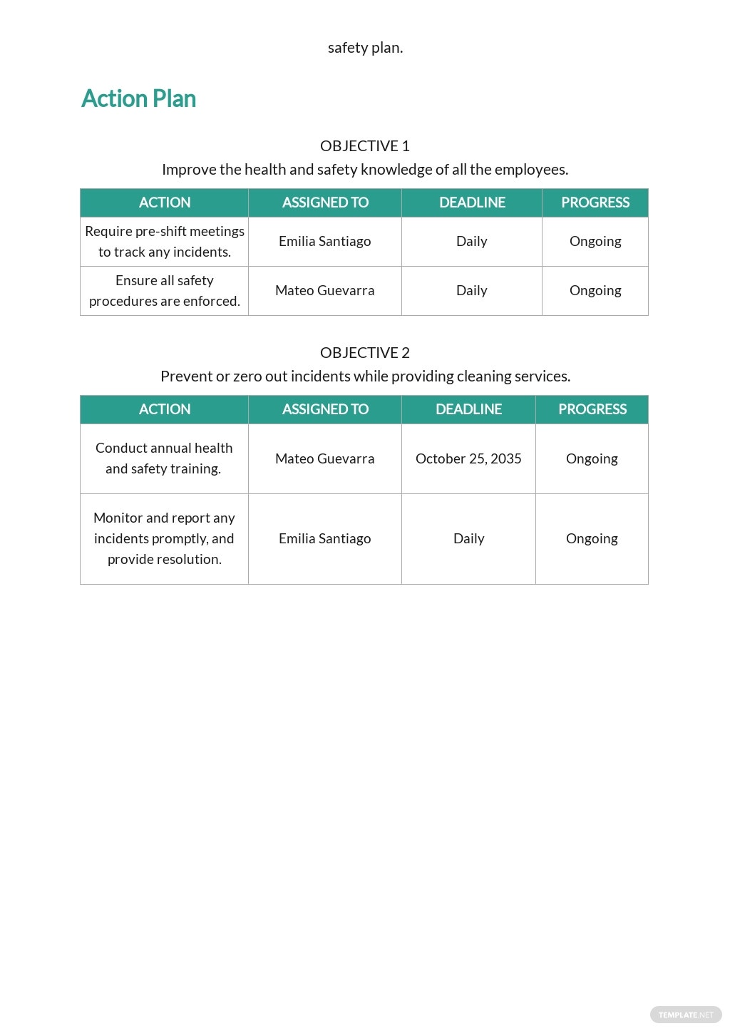 Health and Safety Plan Template for Cleaning Services 2.jpe