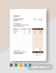 Free Monthly Cleaning Service Receipt Template