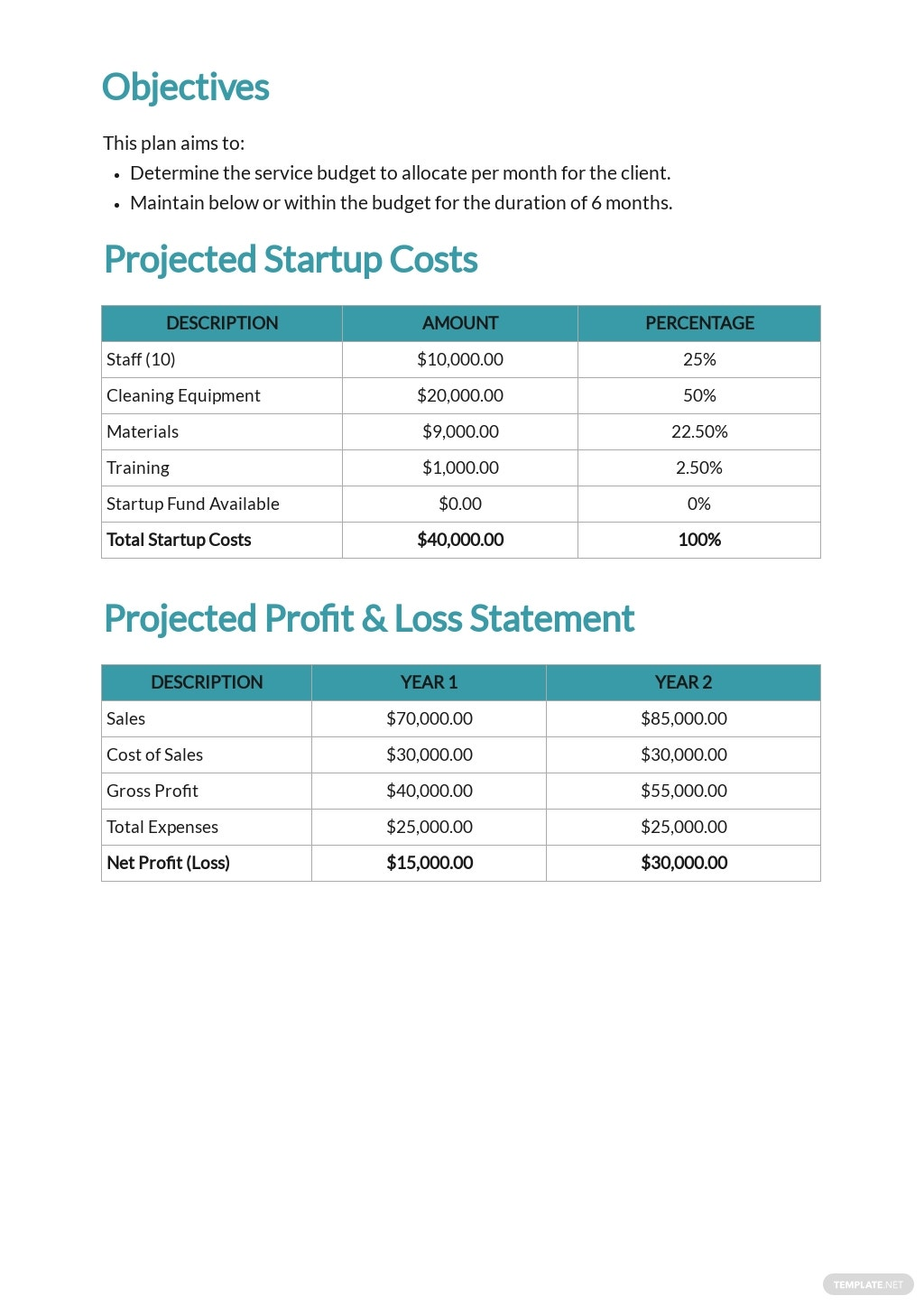 Cleaning Service Budget Plan Template 1.jpe