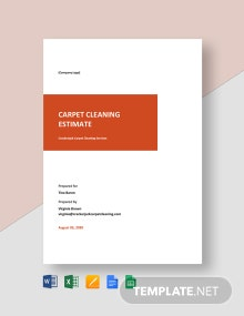 Carpet Cleaning Estimate Template