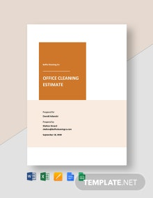 Office Cleaning Estimate Template