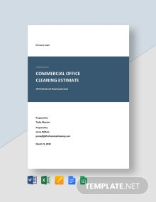 Free Commercial Cleaning Estimate Template