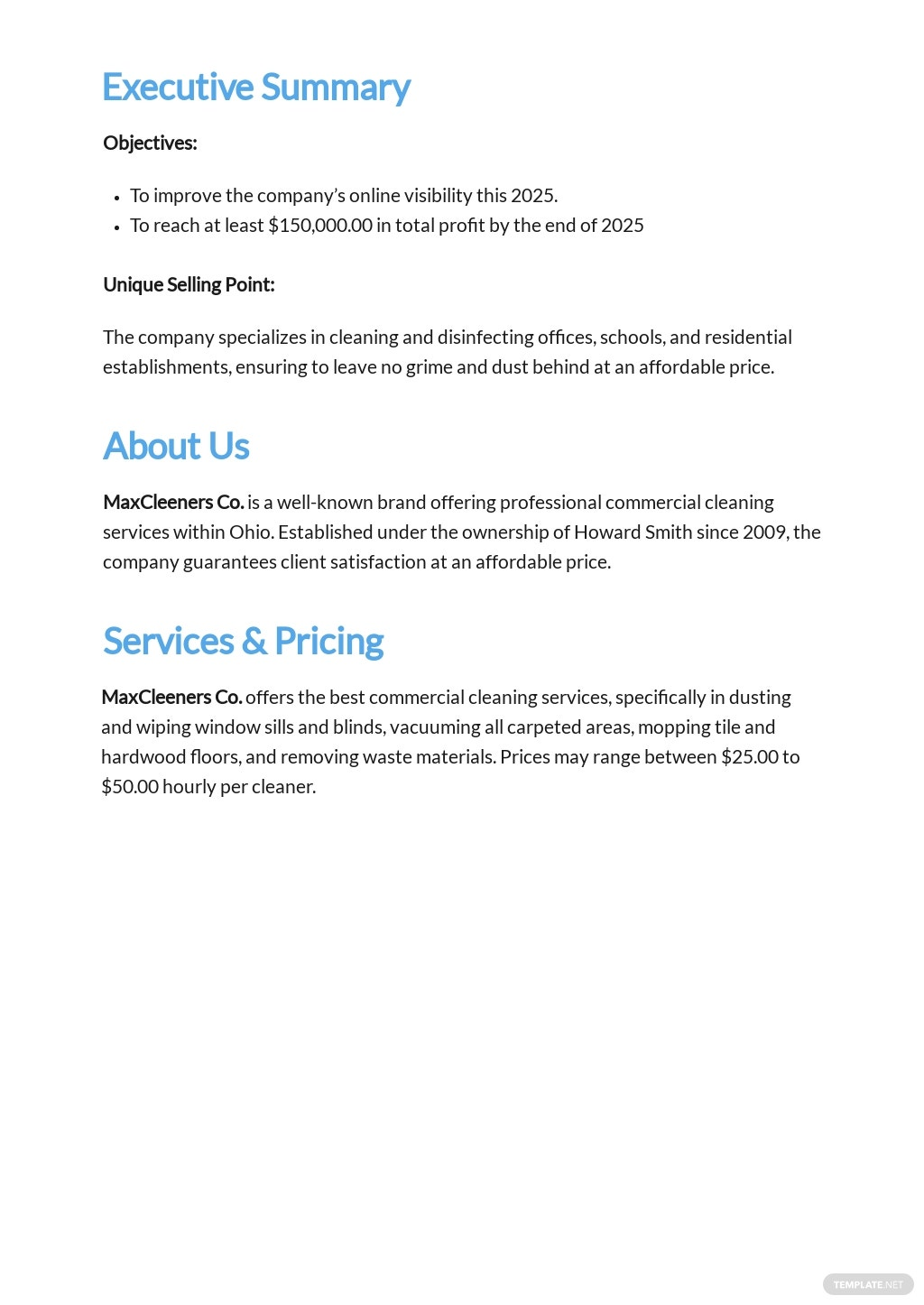 Commercial Cleaning Service Business Plan Template 1.jpe