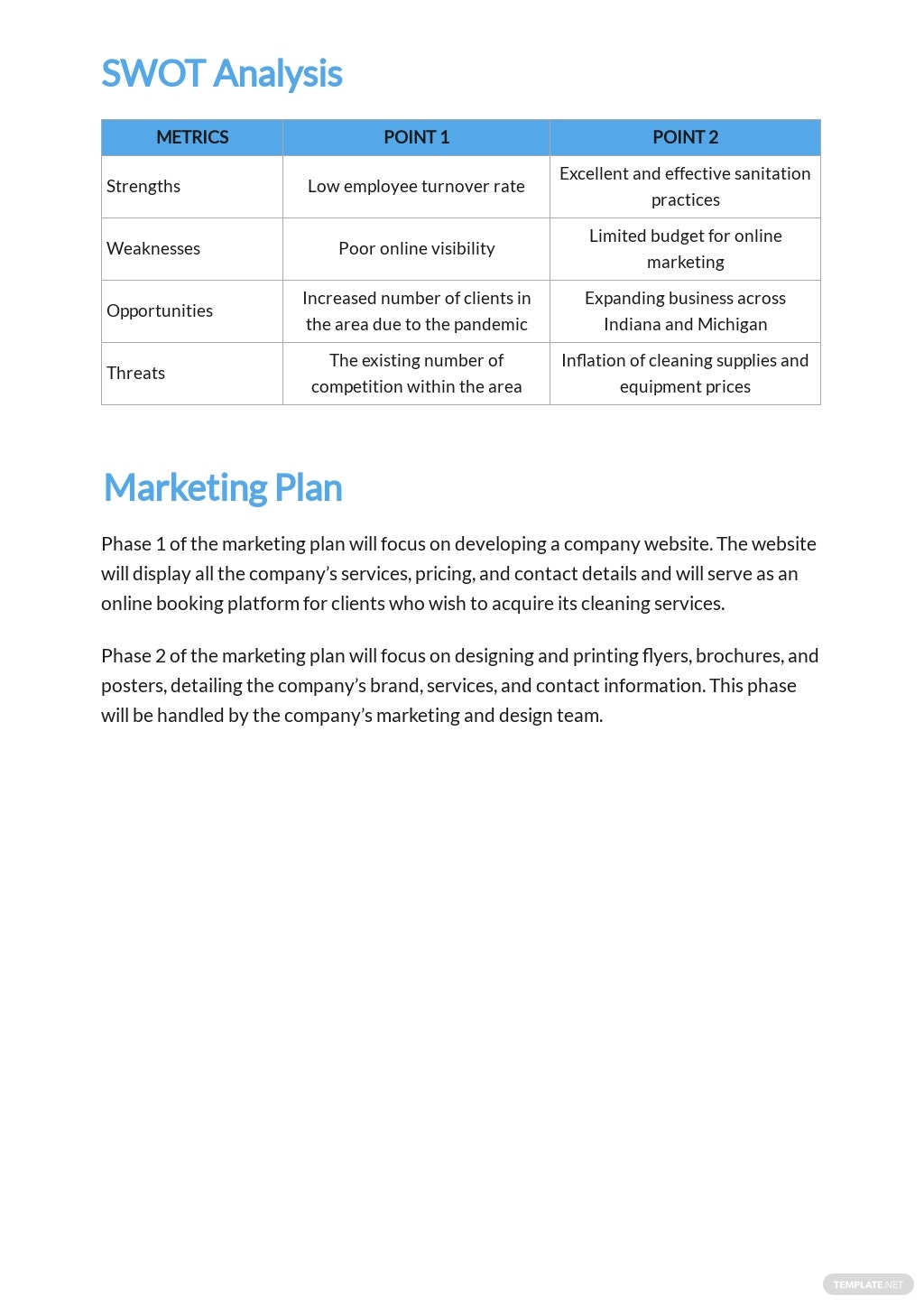 Commercial Cleaning Service Business Plan Template 3.jpe
