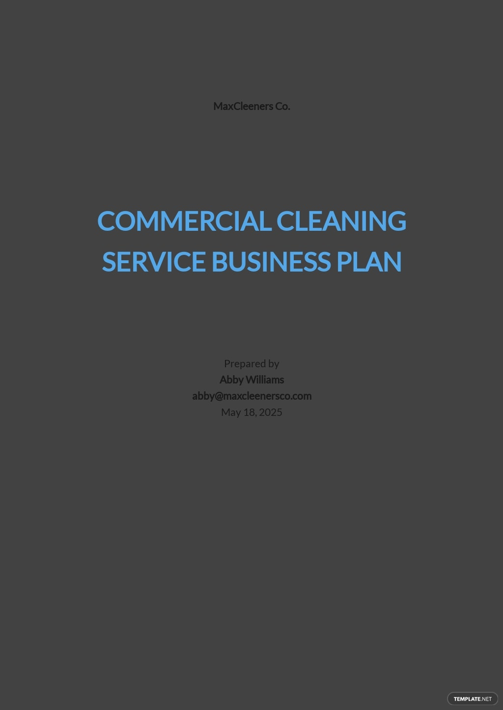 Commercial Cleaning Service Business Plan Template.jpe