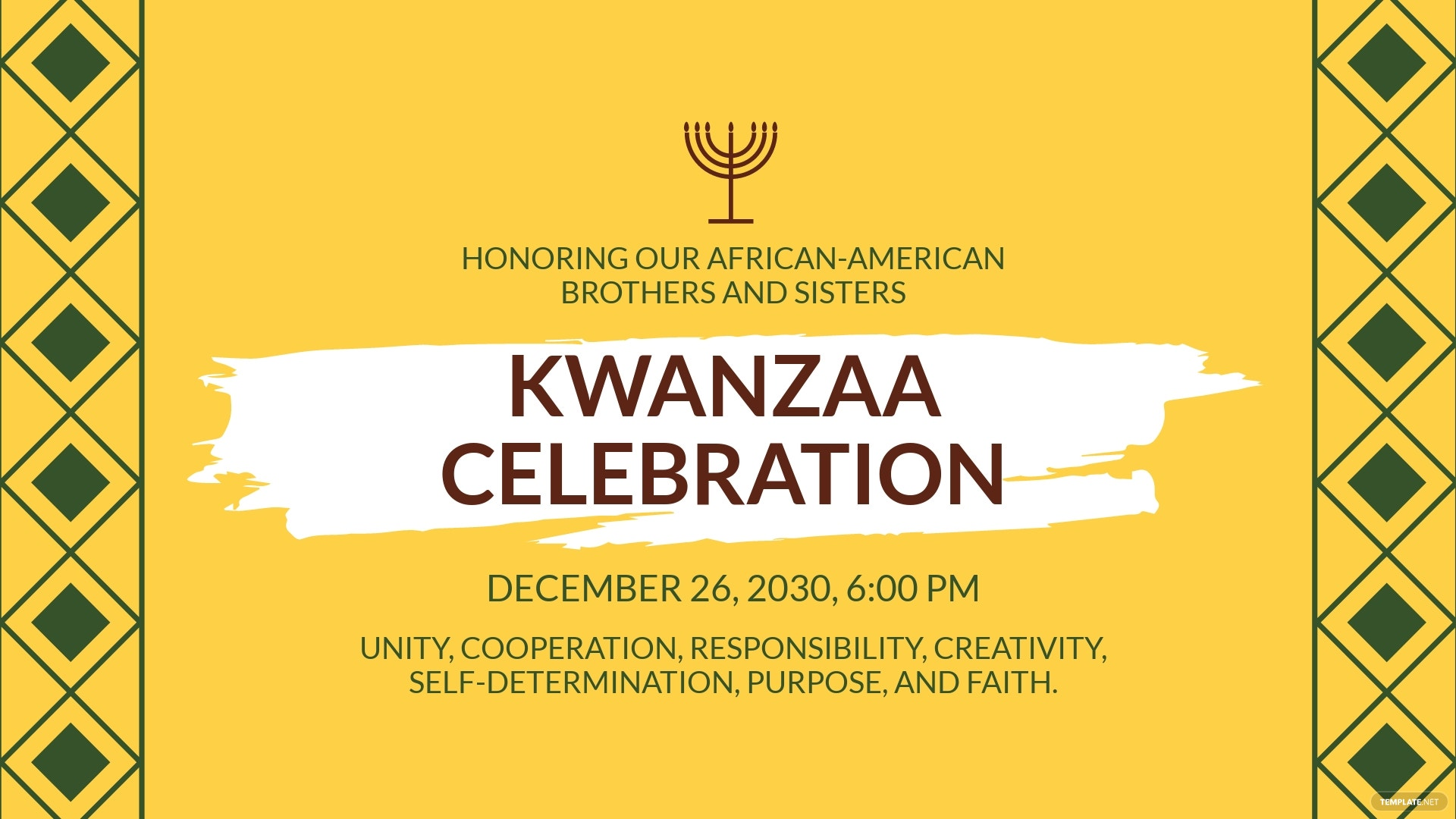 Kwanzaa Facebook Event Cover