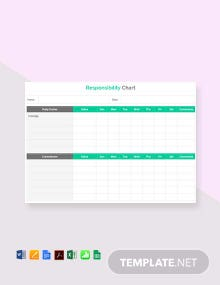 Free Responsibility Chart Template
